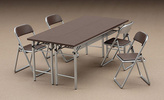 photo of 1/12 Posable Figure Accessory: Meeting Room Tables & Chairs