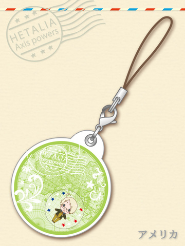 main photo of -es series nino- Hetalia Axis Powers Gel Charm Collection: America
