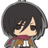 Chimi Shingeki Earphone Jack Mascots: Mikasa Ackerman