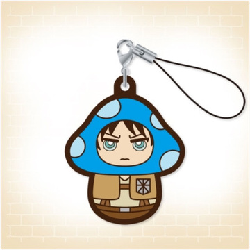 main photo of Charanoko Attack on Titan Rubber Strap: Eren Yeager