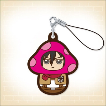 main photo of Charanoko Attack on Titan Rubber Strap: Mikasa Ackerman