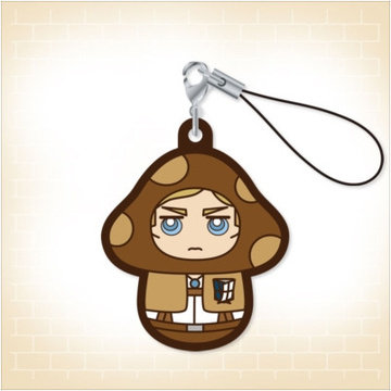 main photo of Charanoko Attack on Titan Rubber Strap: Erwin Smith
