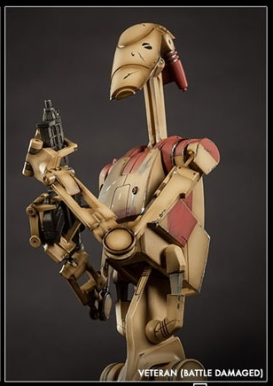 main photo of Militaries Of Star Wars: Security Battle Droid Veteran Battle Damaged ver.