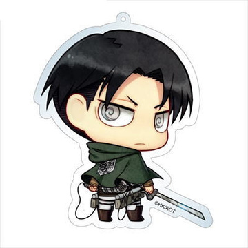 main photo of Attack on Titan Deka Keychain: Levi