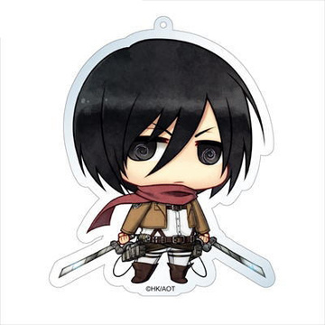 main photo of Attack on Titan Deka Keychain: Mikasa