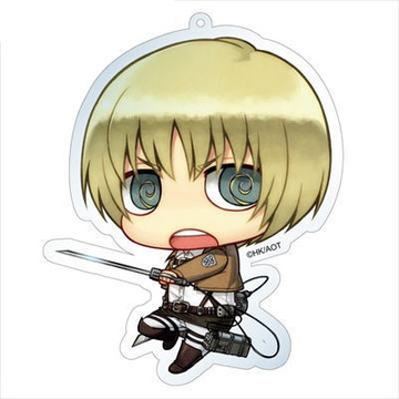 main photo of Attack on Titan Deka Keychain: Armin