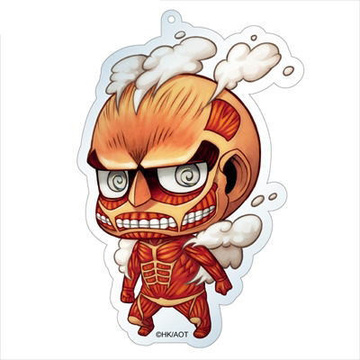 main photo of Attack on Titan Deka Keychain: Colossal Titan