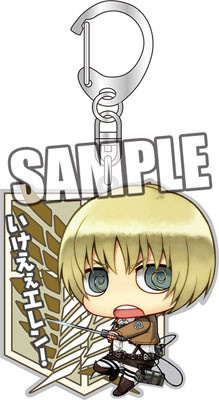 main photo of Attack on Titan Key Ring: Chimi Armin