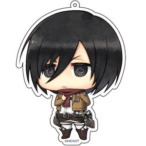 main photo of Attack on Titan Deka Keychain: Mikasa Ackerman Salute ver.