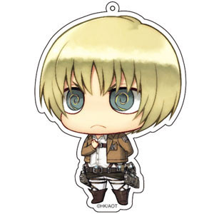 main photo of Attack on Titan Deka Keychain: Armin Arlelt Salute ver.