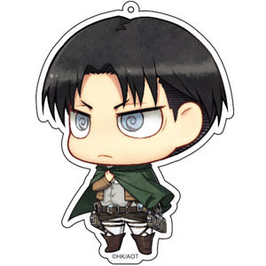 main photo of Attack on Titan Deka Keychain: Levi Salute ver.