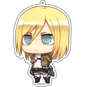 main photo of Attack on Titan Deka Keychain: Krista Lenz Salute ver.