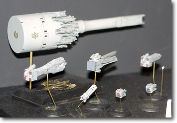 main photo of 1/5000 Ginga Eiyuu Densetsu: Hameln II & Empire Small Vessel Set