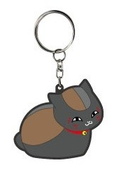 main photo of Natsume Yuujinchou Bendable Charm: Nyanko-sensei Black Nyanko Ver.