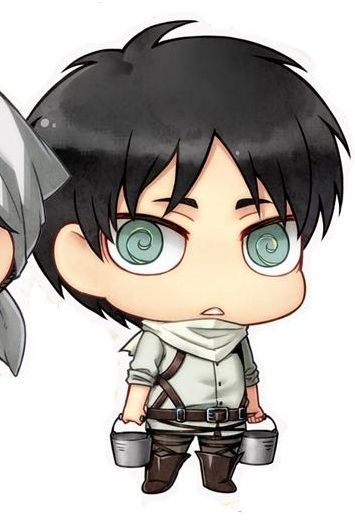 main photo of Shingeki no Kyojin Rubber Strap Collection: Eren Jaeger Cleaning Ver.