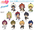 photo of Petanko Free! Trading Rubber Strap Vol.2: Matsuoka Rin school uniform ver.