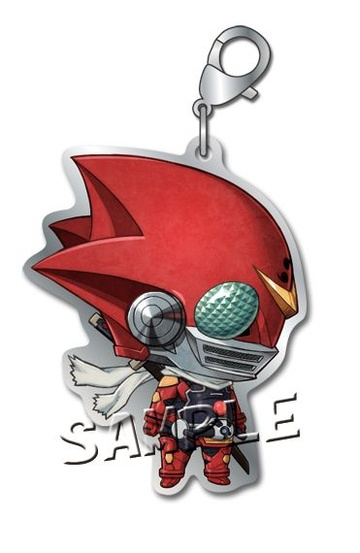 main photo of Samurai Flamenco Metal Charm: Harakiri Sunshine
