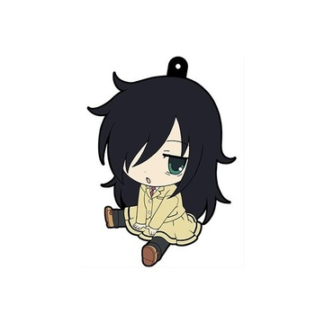 main photo of WataMote Petanko Trading Rubber Strap: Kuroki Tomoko school uniform Ver.