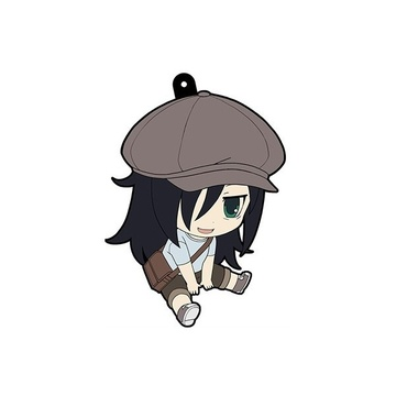 main photo of WataMote Petanko Trading Rubber Strap: Kuroki Tomoko