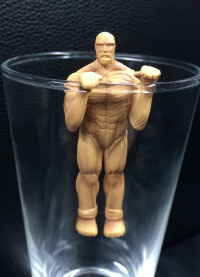 main photo of Shingeki no Kyojin Giant Glass: Colossal Titan Serpia ver.
