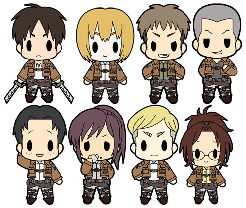 D4 Attack On Titan Rubber Keychain Collection Vol.1: Merco
