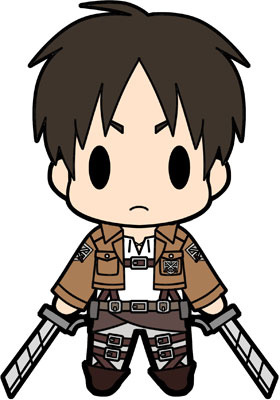 main photo of D4 Attack on Titan Rubber Keychain Collection Vol.1: Eren Yeager
