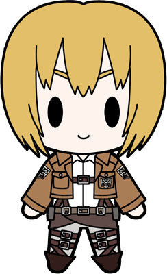 main photo of D4 Attack on Titan Rubber Keychain Collection Vol.1: Armin Arlert
