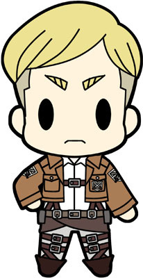 main photo of D4 Attack on Titan Rubber Keychain Collection Vol.1: Erwin Smith