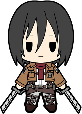 main photo of D4 Attack on Titan Rubber Keychain Collection Vol.2: Mikasa Ackerman