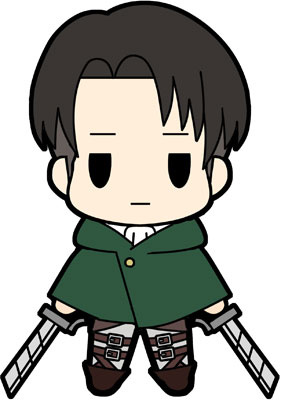 main photo of D4 Attack on Titan Rubber Keychain Collection Vol.2: Levi