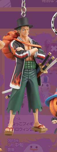 main photo of One Piece Real Figure Keychain ~Halloween 2013~: Roronoa Zoro