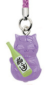 main photo of Nyanko-sensei Power Stone Strap: Nyanko-sensei Sake ver.