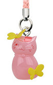 main photo of Nyanko-sensei Power Stone Strap: Nyanko-sensei Butterflies ver.