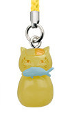 main photo of Nyanko-sensei Power Stone Strap: Nyanko-sensei Fish ver.