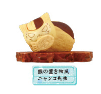 main photo of Nyanko-sensei style wood carving collection: Nyanko-sensei Bear Ornament style ver.