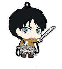 main photo of Attack on Titan Trading Rubber Strap: Eren Jaeger