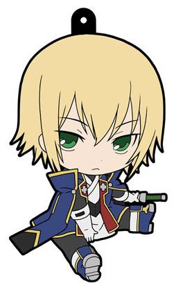 main photo of BlazBlue Petanko Trading Rubber Strap: Jin Kisaragi