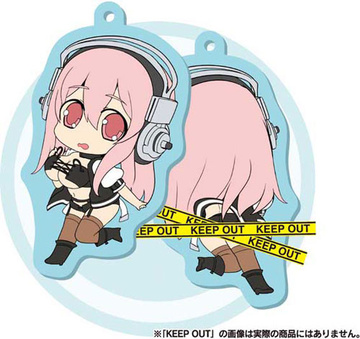 main photo of Super Sonico W Rubber Mascot Chiratto: Sonico Bondage ver.