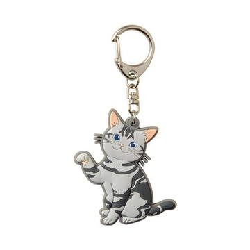 main photo of Pic-Lil! Nyanko Rubber Keychain: American Shorthair