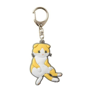 main photo of Pic-Lil! Nyanko Rubber Keychain: Scottish Fold Suco-sit Style