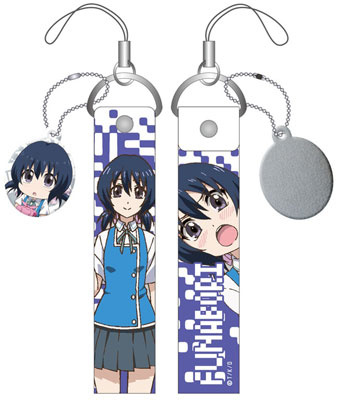 main photo of D-Frag! Wide Smartphone Strap w/Cleaner: Funabori-san