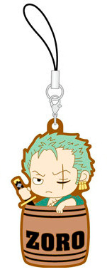 main photo of One Piece Rubber Strap Collection Barrel Colle vol.1 ~Taru shinsei-hen~: Roronoa Zoro