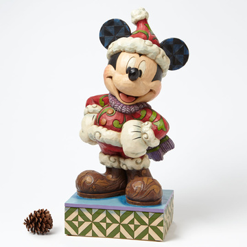 "main photo of Disney Traditions ~""Merry Christmas""~ Winter Mickey Big Fig"