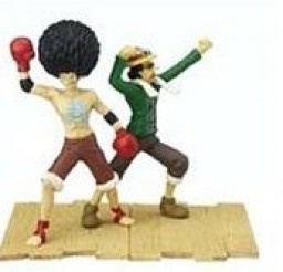 main photo of One Piece 3D Trading Figure: Afro Luffy and Usopp