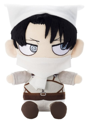 main photo of Attack on Titan Chimi Chara Plushie Cleaning Levi