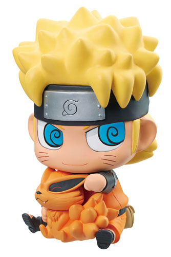 main photo of Chimi-Mega Soft Vinyl Series Sofbi de Kuchiyose dattebayo! NARUTO Shippuden Uzumaki Naruto with Kurama
