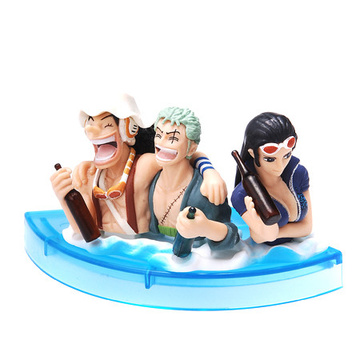 main photo of One Piece Noodle Figure: Nico Robin, Roronoa Zoro and Usopp