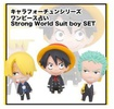 photo of One Piece Chara Fortune Strong World Suit boy SET: Monkey D. Luffy