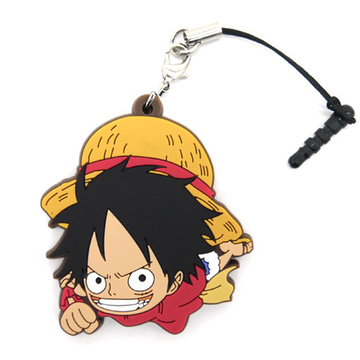 main photo of One Piece Tsumamare Pinched Strap: Monkey D. Luffy