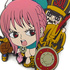 One Piece Tsumamare Pinched Keychain: Rebecca, Thunder Soldier